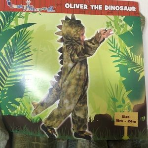 Adorable Oliver dinosaur Halloween costume